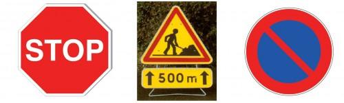 Signalisation routière et temporaire