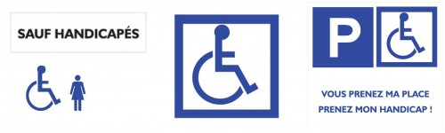 Panneaux prioritaires handicapés