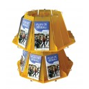 Porte brochures rotatif 16 bacs A6