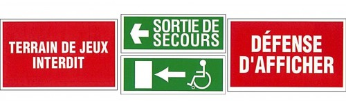 Signalisation de sécurité et temporaire