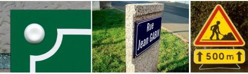 Fixation plaques de rues et signalisation routière