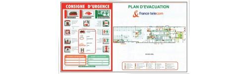 Plans d'évacuation + consigne